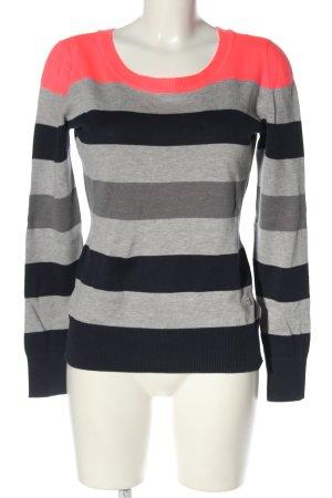 AJC Pull tricoté motif rayé style décontracté