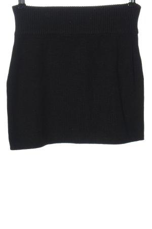 AJC Gebreide rok zwart casual uitstraling