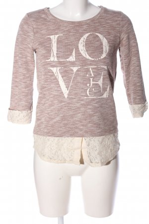 AJC Sweat Shirt natural white-brown flecked casual look