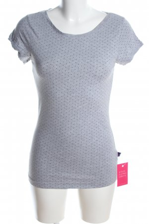AJC T-Shirt light grey-black flecked casual look