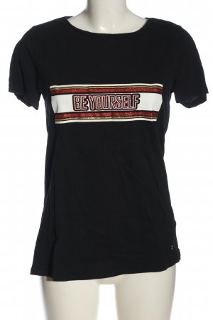 AJC T-Shirt Schriftzug gedruckt Casual-Look