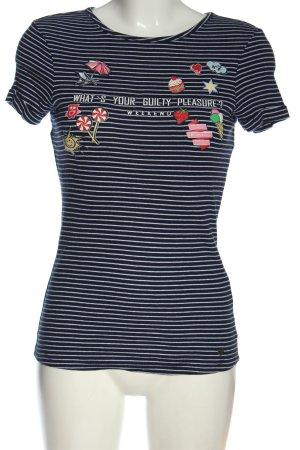 AJC T-shirt Stampa a tema stile casual