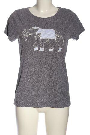 AJC T-shirt grigio chiaro Stampa a tema stile casual