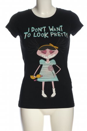AJC T-Shirt schwarz Motivdruck Casual-Look