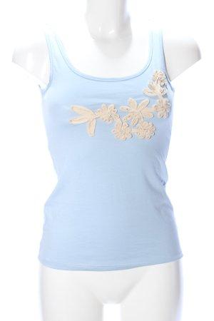 AJC Tanktop blau-nude Blumenmuster Casual-Look