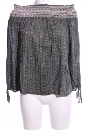 AJC Tunic Blouse light grey abstract pattern casual look