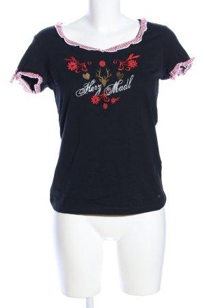 AJC U-Boot-Shirt Blumenmuster Casual-Look
