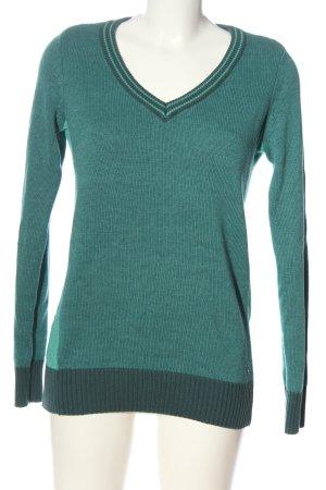 AJC V-Ausschnitt-Pullover grün Casual-Look