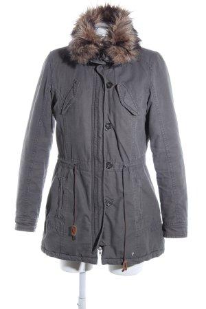 AJC Veste d'hiver gris clair style décontracté
