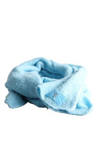Écharpe en tricot bleu style décontracté