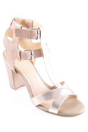 Akira Sandaletto con tacco alto beige-color oro rosa elegante