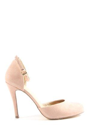 Akira Chaussure à talons carrés rose élégant