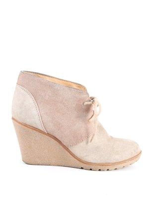 Akira Chaussure à talons carrés rose chair style décontracté