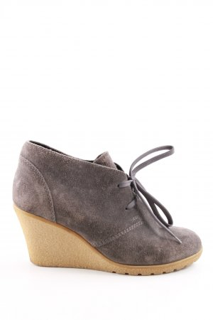 Akira Wedge Booties light grey business style