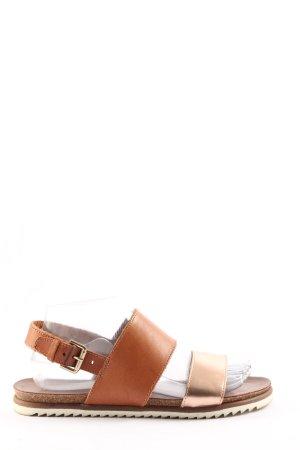 Akira Sandales confort brun-crème style décontracté