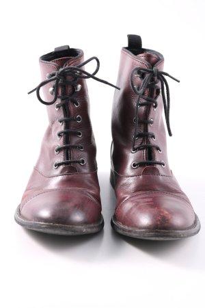 Akira Krótkie buty czerwony W stylu casual