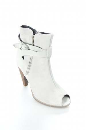 Akira Peep Toe Booties grey party style