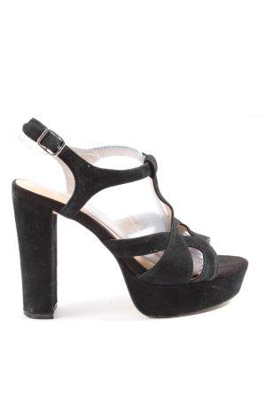 Akira Plateau-Sandaletten schwarz Elegant