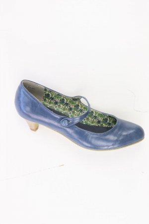 Akira Escarpins bleu-bleu fluo-bleu foncé-bleu azur cuir