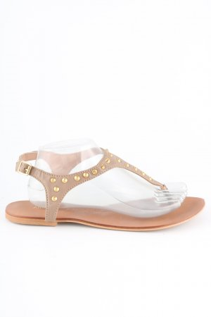 Akira Strapped Sandals nude casual look