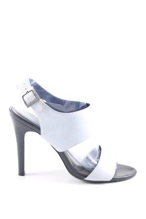 Akira Sandales à talons hauts et lanière gris clair style décontracté