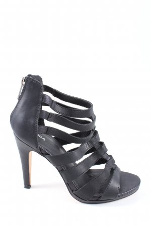 Akira Strapped High-Heeled Sandals black casual look