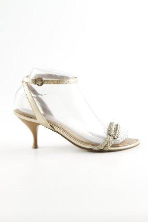 Akira Strapped High-Heeled Sandals gold-colored elegant