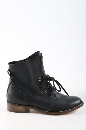 Akira Bottes à lacets noir style décontracté