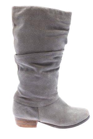 Akira Bottes plissées gris clair moucheté style décontracté