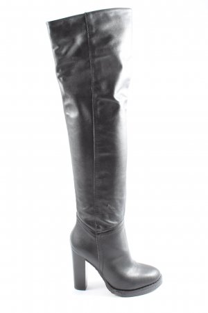 Akira Wide Calf Boots black casual look