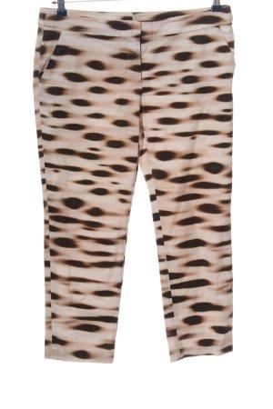 Akris Pantalon 7/8 brun-blanc cassé motif abstrait style extravagant