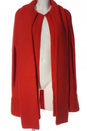 Akris Cardigan red striped pattern casual look