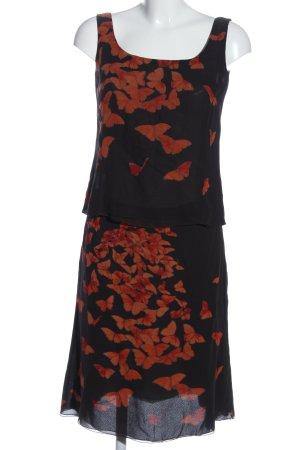 Akris Web twin set zwart-licht Oranje prints met een thema casual uitstraling