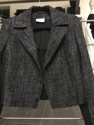Akris punto Veste en laine noir-blanc