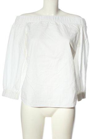 Akris punto Blusa alla Carmen bianco stile casual