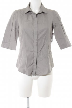 Akris punto Short Sleeved Blouse light grey weave pattern casual look