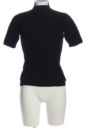 Akris punto Sweter z krótkim rękawem czarny W stylu casual