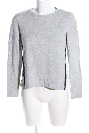 Akris punto Koszulka z długim rękawem jasnoszary Melanżowy W stylu casual