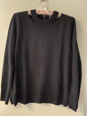 Akris punto Maglione di lana nero Lana