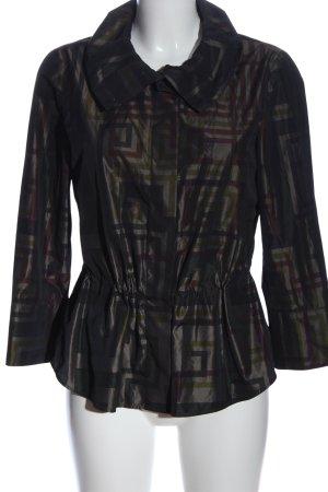 Akris punto Płaszcz przejściowy czarny Graficzny wzór W stylu casual