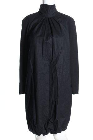 Akris punto Vestido de lana negro elegante