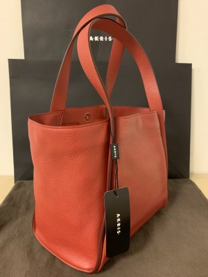 Akris Shopper dark red