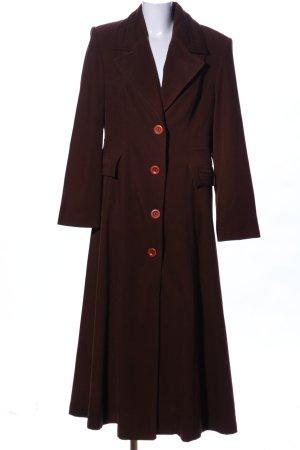 Manteau long brun style décontracté