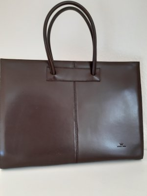 Daniela Moda Briefcase brown-dark brown