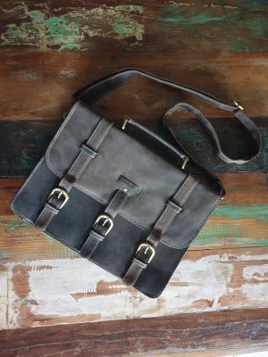 Briefcase taupe-grey brown