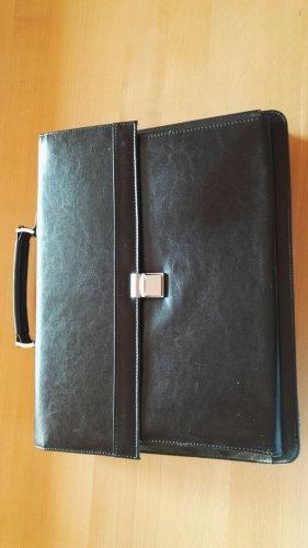 Aktentasche Tasche Leder Messenger Notebook Schultertasche schwarz