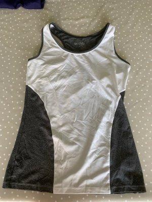 Tchibo / TCM Canotta fitness grigio-bianco