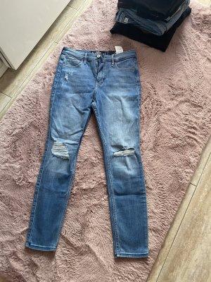 Aktuelle Jeans Hollister 5S hellblau Skinny High Rise