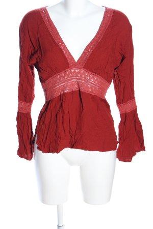Akwaba Langarm-Bluse rot Elegant