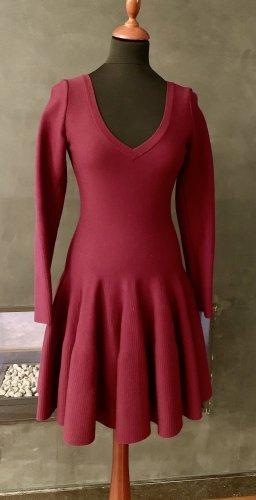 Alaïa Vestido línea A rojo oscuro